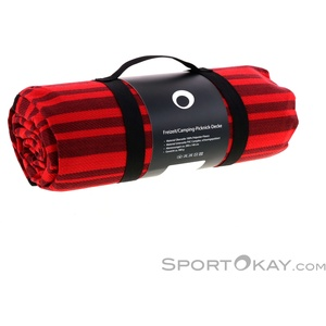 SportOkay.com Picknickdecke Camping Zubehör-Rot-One Size