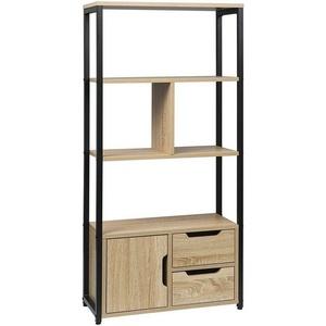 Woltu Bücherregal, Bücherregal mit Schrank 58x24x120cm