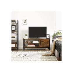 VASAGLE TV-Schrank LTV42BX Fernsehtisch, für Fernseher bis 48 Zoll, vintage