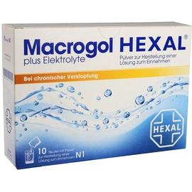 Hexal Macrogol Hexal plus Elektrolyte Pulver 10 St.