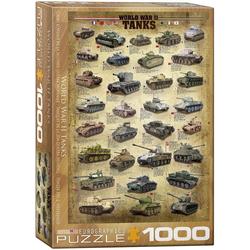 empireposter Puzzle Panzer des zweiten Weltkriegs - 1000 Teile Puzzle im Format 68x48 cm, Puzzleteile
