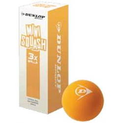 Squashball - Dunlop PLAY MINI ORANGE 3 Stk.