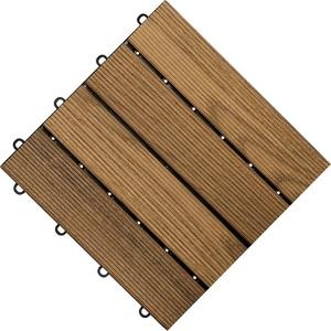 florco® Terrassenplatten, 30x30 cm, 6-St., Klickfliesen braun