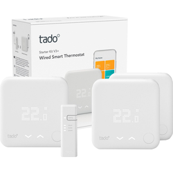 Tado Raumthermostat Smart Thermostat-Starter Kit V3+ mit 2 zusätzlichen Smart Thermostaten