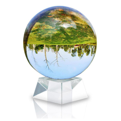 Intirilife Dekokugel Intririlife Glaskugel mit Ständer Kristallkugel Glasständer Glasball Fotokugel, Glaskugel Fotokugel 70 cm