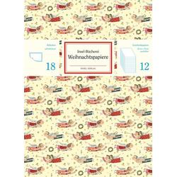 Insel-Bücherei Geschenkpapier Set Weihnachtsmotive