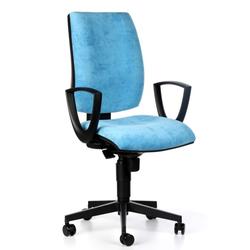Bürostuhl figo, synchronmechanik, blau