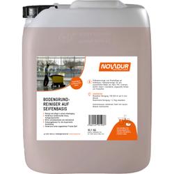 NOVADUR Bodengrundreiniger Seifenbasis, Fußbodenreiniger und Wischpflege auf Seifenbasis, 10 l - Kanister