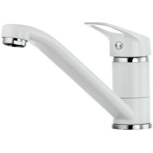 Küche Waschtischarmatur Spültisch Armatur Wasserhahn Einhebelmischer Weiß