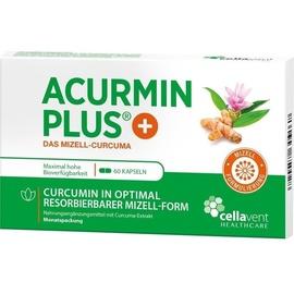 Cellavent Healthcare GmbH Acurmin Plus Das Mizell Curcuma Kapseln 60 St.