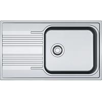 Franke 101.0368.324 Edelstahl Leinenoptik1-Becken Küchenspüle aus Smart SRL 611-86 XL, grau