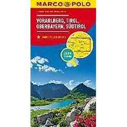 MARCO POLO Karte  Vorarlberg  Tirol  Oberbayern  Südtirol / Vorarlberg  Tyrol  Upper Bavaria  South Tyrol / Vorarlberg  - Buch