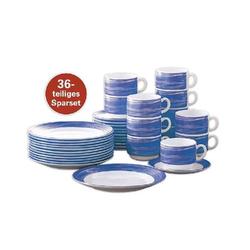 36-teiliges SPARSET BRUSH Bluejean/ Dunkelblau Hartglasgeschirr mit farbigem