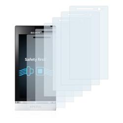 Savvies Schutzfolie für Sony Xperia U ST25i, (6 Stück), Folie Schutzfolie klar
