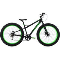 KS-CYCLING Fatbike SNW2458 26 Zoll RH 43 cm schwarz/grün