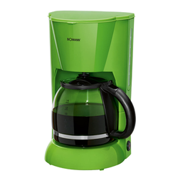 Kaffeemaschine in grün mit Wasserstandsanzeige und 900 Watt