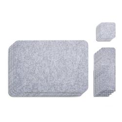 AMARE Becheruntersetzer Filzuntersetzer Set 4er-Set, Untersetzer, 1-tlg., Kunststoff grau