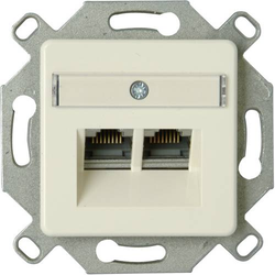 Kopp 1 Stück Einsatz Netzwerkdose Aluminium 920100004