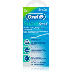 Oral B Super Floss Zahnseide für Zahnklammern und Zahnersatz Mint 50 St.
