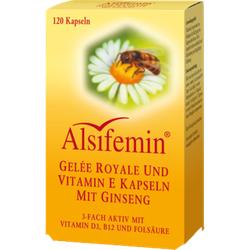 ALSIFEMIN Gelee Royal+Vit.E m.Ginseng Kapseln 120 St