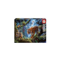 Educa Puzzle Puzzle Tiger im Baum, 1.000 Teile, Puzzleteile