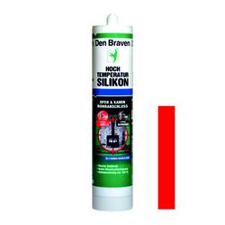 Hochtemperatur-Silikon 'Den Braven®' 300 ml, rot