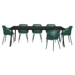 ebuy24 Gartenmöbelset Gell Gartenmöbel Set 1 Tisch und 6 Stühle.