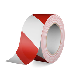 Gerband 404 - Warnband - Klebeband - weiß/rot, 66m Rolle, 60mm breit