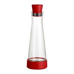 Emsa Karaffe Flow Slim Friends Glas / Kunststoff Rot 1 L 515476