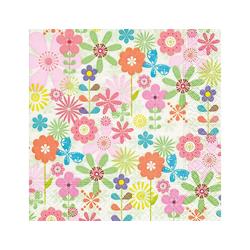 VBS Papierserviette Serviette Retro Blumen, 33 cm lang