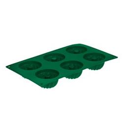 Kitchen Club Silikon Backform - Minigugelhupfform - grün