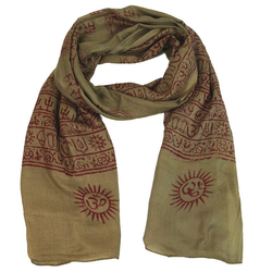Guru-Shop Modetuch Dünnes Baba Tuch, Benares Lunghi - braun braun
