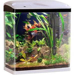 Nano-Aquarium-Komplett-Set mit LED-Beleuchtung, Pumpe und Filter, 25 l
