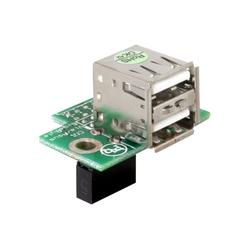 Delock USB-Pinheader-Buchse auf 2x USB-2.0-Buchse Adapter