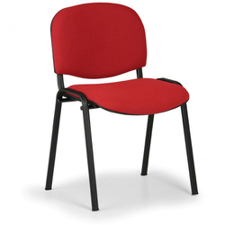 Konferenzstuhl viva, schwarze füße, rot