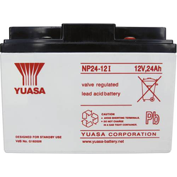 Yuasa NP24-12 NP24-12 Bleiakku 12V 24Ah Blei-Vlies (AGM) (B x H x T) 166 x 125 x 175mm M5-Schraubans
