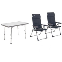 Crespo Stuhl- und Tischset Valencia grau (AL/213-CTA)