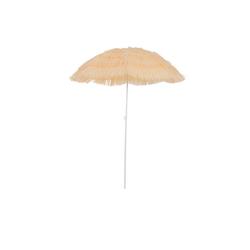 Outsunny Sonnenschirm Hawaiischirm höhenverstellbar weiß