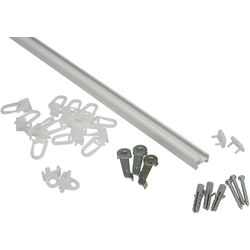 Gardinenschiene Aluminiumschiene, GARDINIA, (1-St), Serie Aluminiumschiene Ø 13 mm weiß Ø 1,3 cm x 120 cm