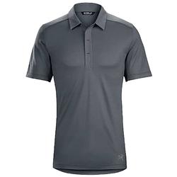 Arcteryx Poloshirt ARCTERYX A2B Polo-Shirt weiches Herren Sommer Polo-Shirt Polo-Hemd mit Merinowolle Kurzarm-Shirt Grau