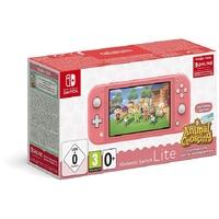 Nintendo Switch Lite koralle + Animal Crossing: New Horizons + 3 Monate Online Mitgliedschaft