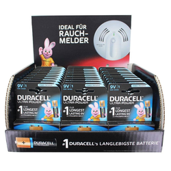 Duracell 33 Stück Ultra Power Alkaline 9V Batterien ideal f Batterie