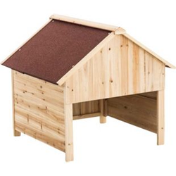 CLP Holzgarage für Rasenroboter   Unterstand für Rasenmähroboter mit UV-Strahlenschutz    Überdachung für Mähroboter aus Holz   Holzhaus für Rasenroboter   In verschiedenen Farben erhältlich