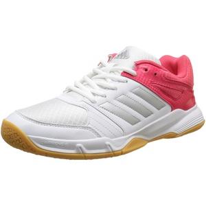 Adidas Damen Speedcourt W Handballschuhe, Weiß (Weiß/Silber/Rot), 37 1/3 EU (4.5 UK)