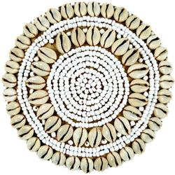 Guru-Shop Aufbewahrungsdose Exotische Korb-Schachtel mit Kauri Muschel,.. 15 cm x 9 cm x 15 cm