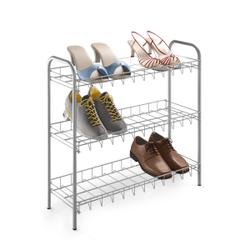 Metaltex Shoe Schuhregal, Platzsparendes Regal aus LDPE, leichter Aufbau ohne Werkzeug, Maße: 64 x 23 x 59 cm, 3 Etagen