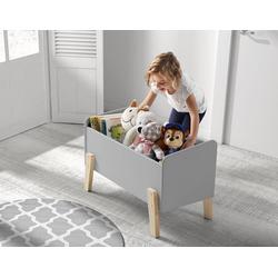 Vipack Spielzeugtruhe Kiddy, MDF-Oberfläche grau