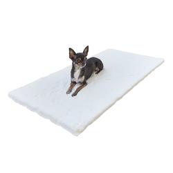 Pets Club Tierdecke Tiermatte Luna Hunde Katzen Matte Decke 50 x 80 x 3 cm waschbar weich gepolstert weiß