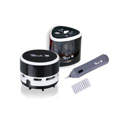 Peach Vorteils-Set elektrischer universal Anspitzer +  Radierer + Tisch Staubsauger