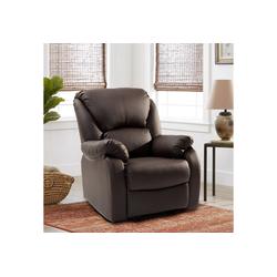 Flieks Relaxsessel, Fernsehsessel Leder Sofa Tilt Sofa Push Back Sessel für Home Lounge Gaming Cinema High-Back braun
